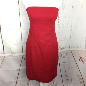 Express Strapless dress size 8 red